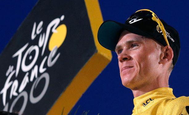 Chris Froomen 14. etappi sai ikävän käänteen.