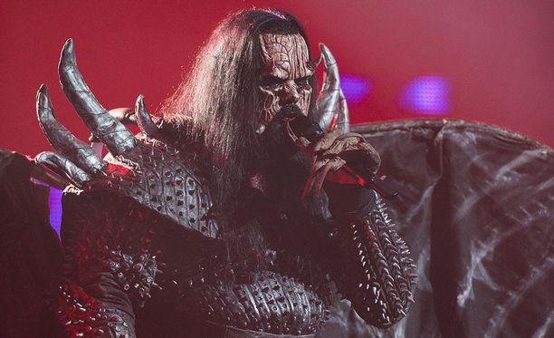Mr. Lordi oli katsomassa suosikkiyhtyettään Helsingissä.