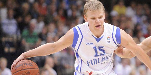 Teemu Rannikko on Suomen koripallomaajoukkueen johtotähti.
