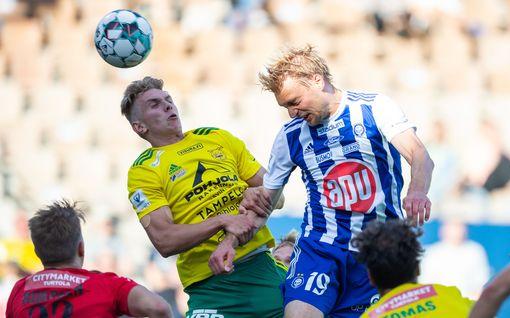 HJK nousi sarjakärkeen – valmentajanvaihdos ei auttanut TPS:ää