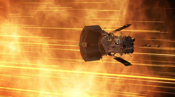 """Parker-luotain """"näkee"""" Auringon sisälle. Se mittaa magneettikenttiä ja energian virtauksia pinnan alla."""