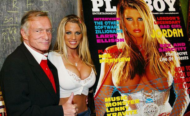 Price poseerasi Playboyn kannessa 15 vuotta sitten.