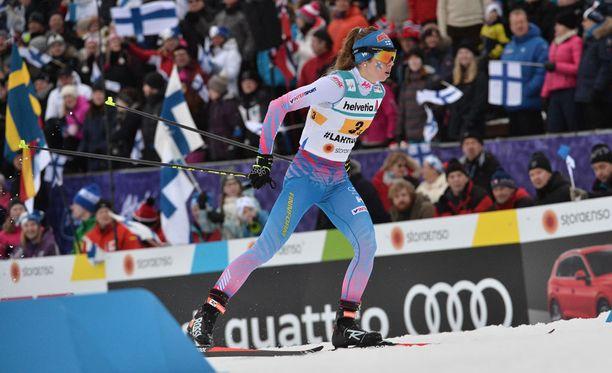 Laura Mononen voitti uransa ensimmäisen MM-mitalin torstain viestissä.