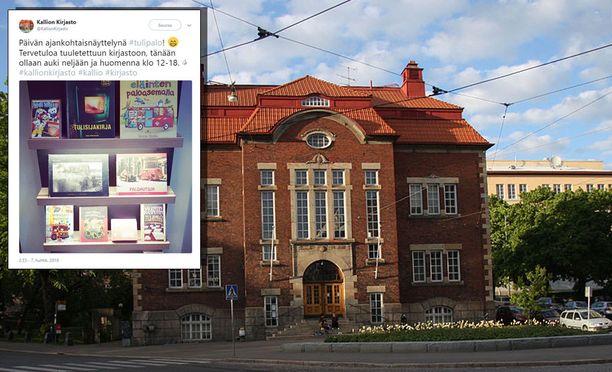 Kallion kirjaston reagointi tuhopolttoyritykseen on kerännyt mukavasti positiivista palautetta.