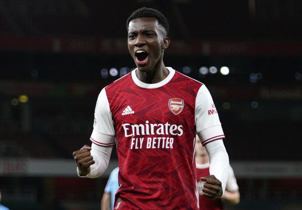 Eddie Nketiah ratkaisi kolme pistettä Arsenalille.