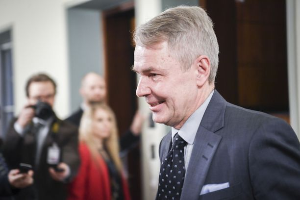 Ulkoministeri Pekka Haavisto oli eduskunnan perustuslakivaliokunnan kuultavana 14.1.2020.