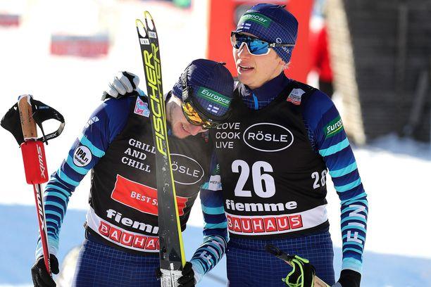 Ilkka Herola ja Eero Hirvonen. Kuva perjantailta.