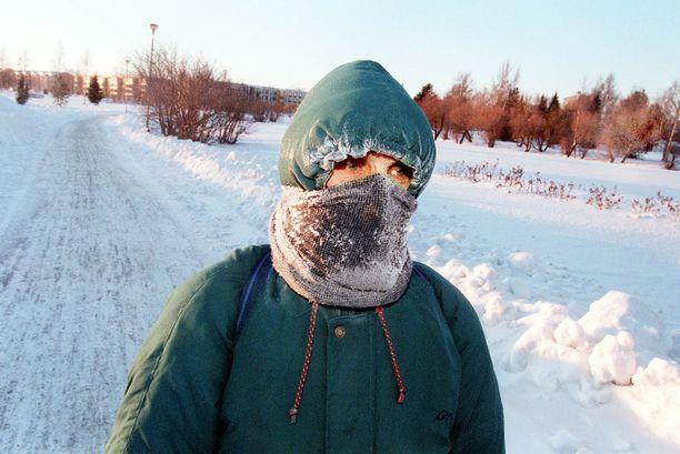 Kuva talven 1999 ennätyspakkasista.
