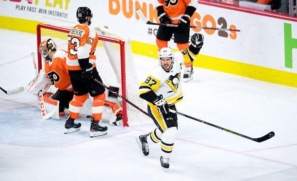 Sidney Crosby on tehnyt 173 pistettä NHL:n pudotuspeleissä.
