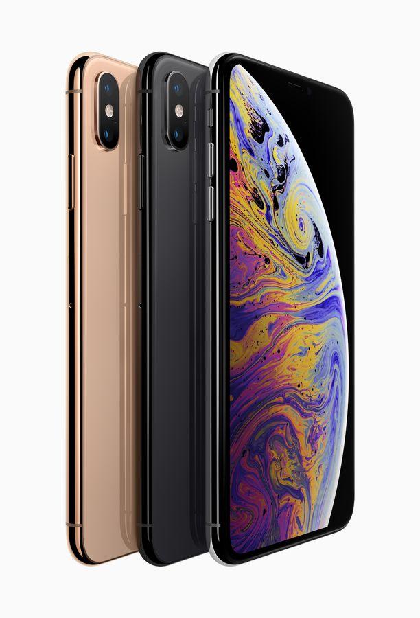 Iphone XS on saatavilla kultaisena, tähtiharmaana sekä hopeana.