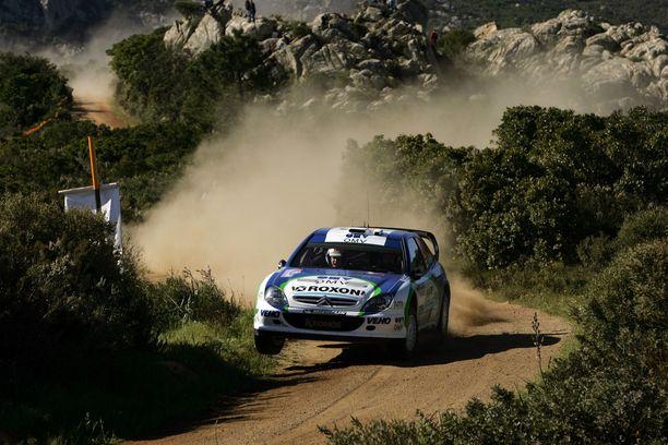 Juuso Pykälistö vauhdissa yksityistallin WRC-Citroënilla Sardinian MM-rallissa 2005, jossa hän sijoittui kahdeksanneksi.