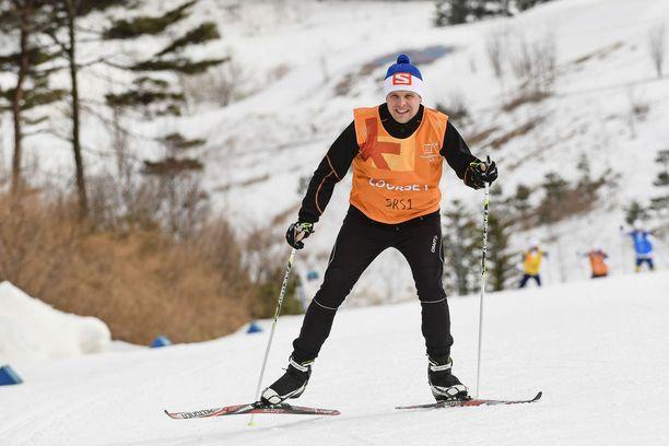 Rankimman ylämäen päällä amatöörin syke oli 178. Maailmanmestari Matti Heikkisen mittari näytti lukuja 118.