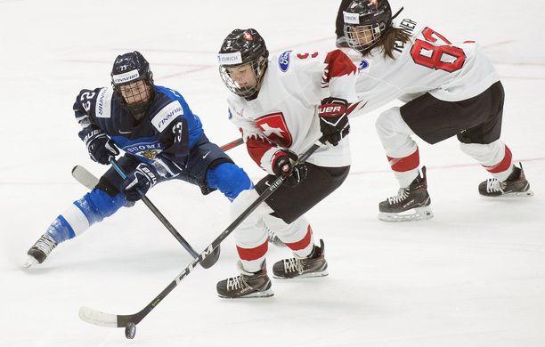 Noemi Ryhner pelasi Suomea vastaan vuoden 2019 MM-kisoissa.