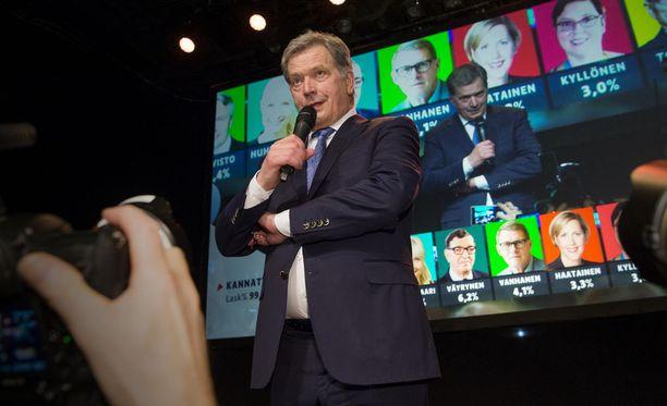 Sauli Niinistö sai eniten ääniä jokaisessa Suomen kunnassa.
