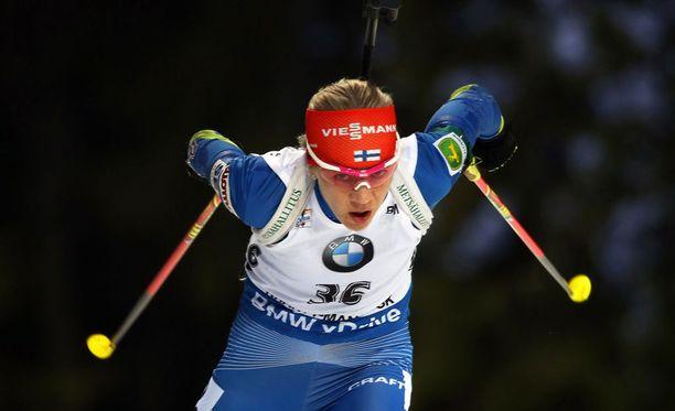 Kaisa Mäkäräinen myönsi, että maailmancupin kokonaiskisan voitto alkaa olla utopiaa.