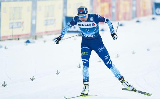Anne Kyllönen karsiutui sprintin välieristä vain reilulla kymmenyksellä! Naisten sprintissä yllätysvoittaja