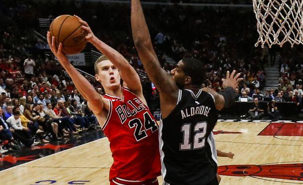 Chicago Bullsin Lauri Markkanen.