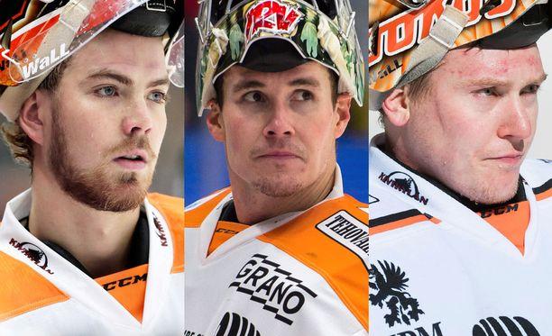 Samu Perhonen, Leland Irving ja Juha Järvenpää ovat kaikki sivussa. Irving palaa viikon tai kahden kuluttua.