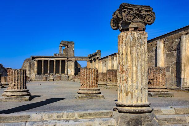 Pompeiji on säilynyt hämmästyttävän hyvin tuhkaan hautautuneena.