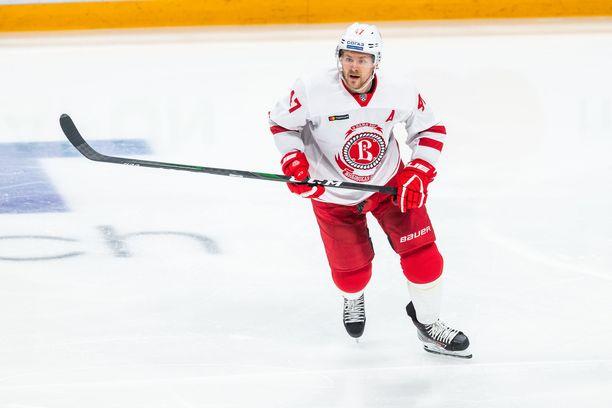 Viime kaudella Ville Lajunen kiekkoili KHL:n Vitjazissa.