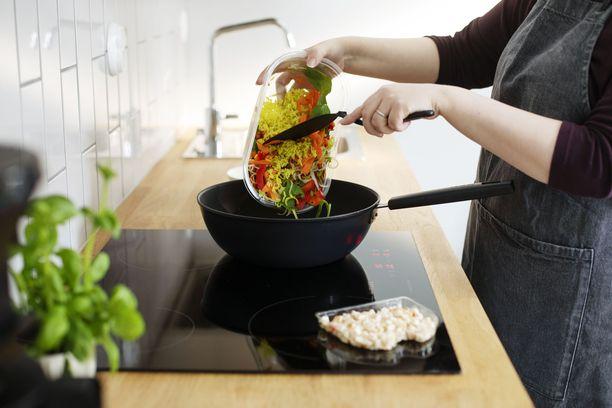 600 gramman Hetki Wok-ateriasta riittää myös jaettavaksi.
