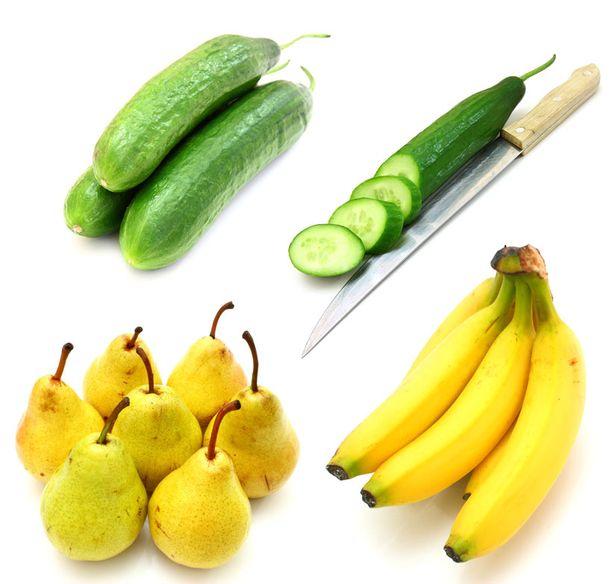 Aivohalvausta ehkäisevät hedelmät ja vihannekset ovat sisukseltaan vaaleita. Omenan lisäksi esimerkiksi päärynä, banaani ja kurkku kuuluvat tähän joukkoon.