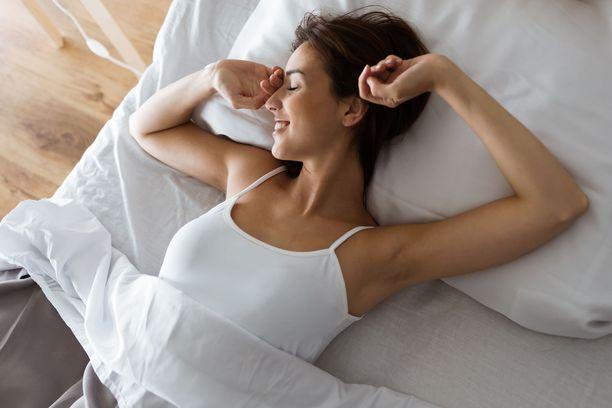 Yöunien kesto ja laatu ovat sopivat, kun olo on aamulla virkistynyt, eikä koe tarvetta päiväunille.