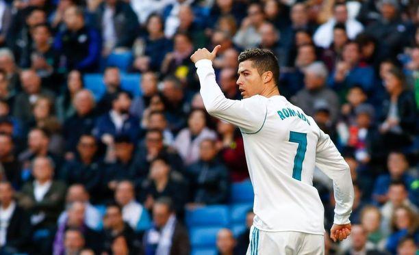 Cristiano Ronaldo vietti toista perättäistä kahden maalin iltaa Espanjan liigassa.
