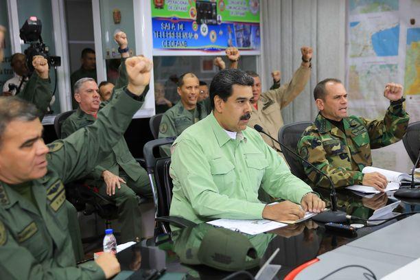 Venezuelan armeija on edelleen Maduron tukena.