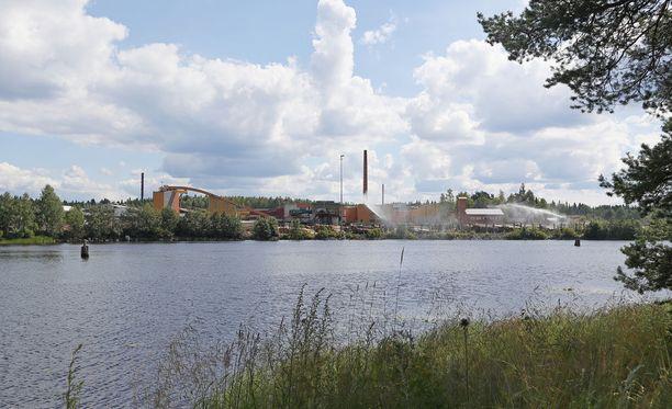 Kuvassa Binderholzin Nurmeksessa sijaitseva saha.
