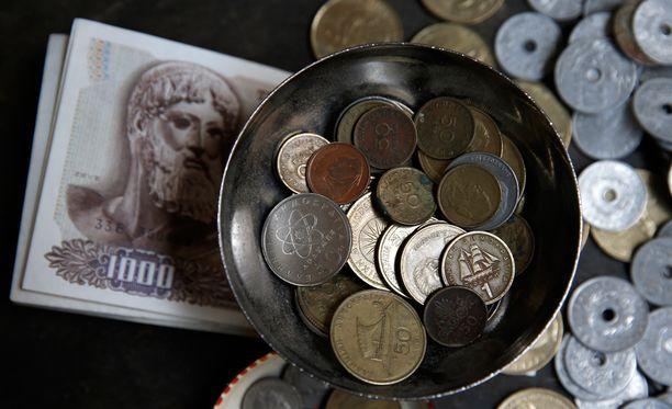 Kreikan on saatava taloussuunnitelmansa valmiiksi. Kuvassa maan valuuttaa ennen euroa.