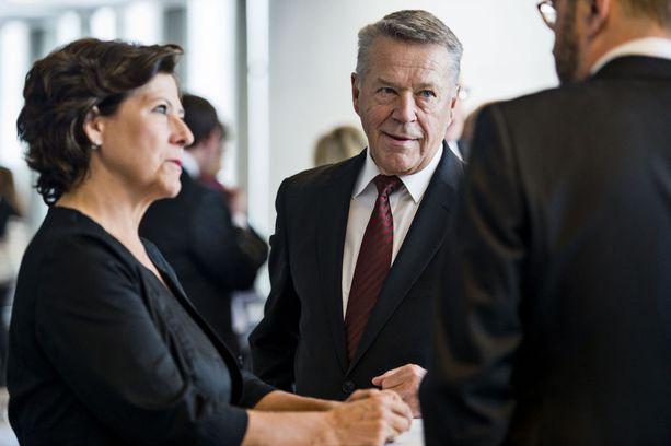 Hilkka ja Matti Ahde osallistuivat valtiopäivien avajaisiin helmikuussa 2016.