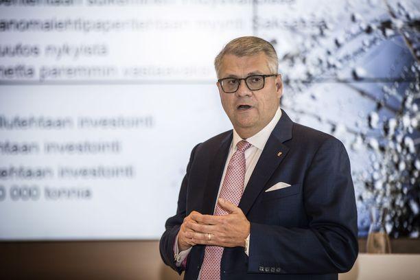 UPM:n toimitusjohtaja Jussi Pesonen. Arkistokuva vuodelta 2016.