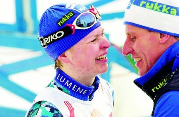TYÖPARI Kaisa Varis ja Kari-Pekka Kyrö ovat olleet julkisessa ja salaisessa valmennussuhteessa.