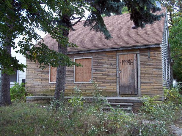 Tämä Detroitissa sijaitseva talo lähtee halvalla.