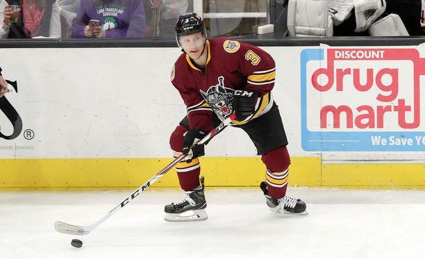 Teemu Pulkkinen takoi viime kaudella kovat tehot AHL:n Chicago Wolvesissa.