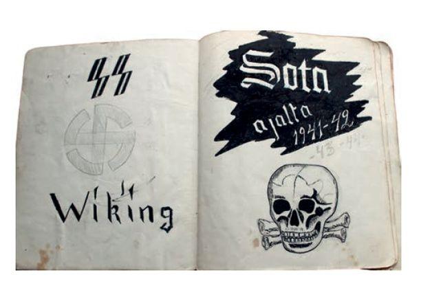 Suomalaisen SS-miehen Herkko Kososen päiväkirja oli yksi arkistoselvityksen lähteistä.
