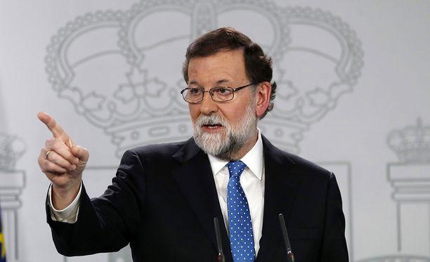 Pääministeri Mariano Rajoy on valmis keskustelemaan Katalonian johdon kanssa.