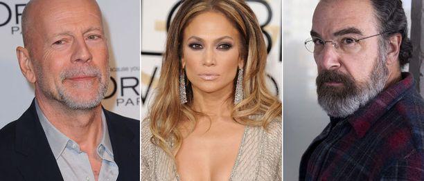 Mandy Patinkinilla (oik.) nousi pissa päähän hänen työskenneltyään alan huippujen kanssa. Jennifer Lopezilla hankala käytös liittyi puolestaan yksityiselämän mullistuksiin. Bruce Willis oli muutoin vain kusipää, ainakin Pari kyttää -leffan kuvauksissa.