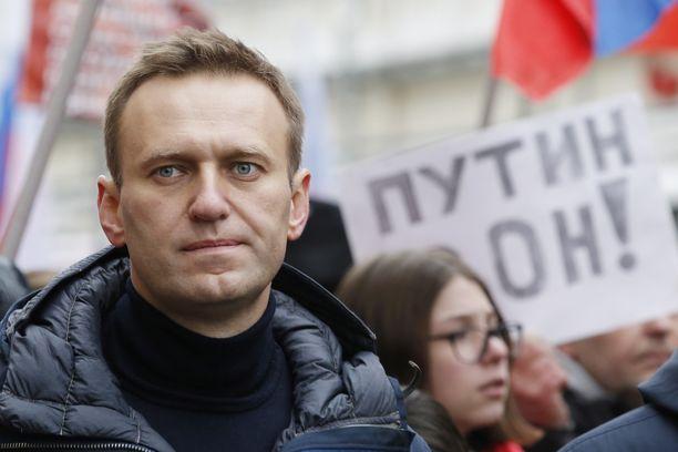 Navalnyi osallistui mielenosoitukseen 24. helmikuuta. Marssilla muistettiin ammuttua oppositiopoliitikko Boris Nemtsovia.