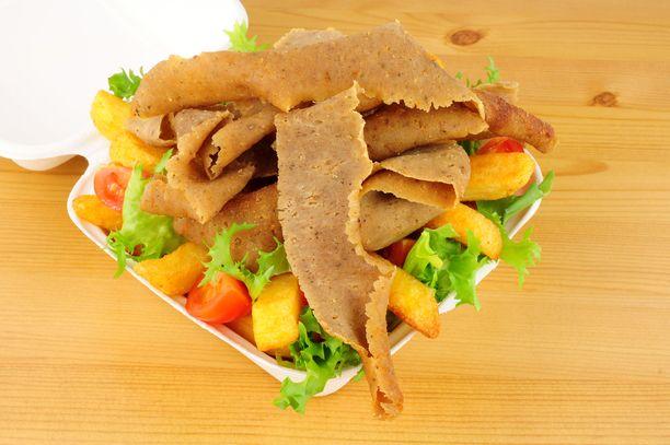 Kebab, ranskalaiset ja salaatti: 1457,38 kcal