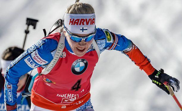 Kaisa Mäkäräinen lähti takaa-ajokisaan sijalta 12.