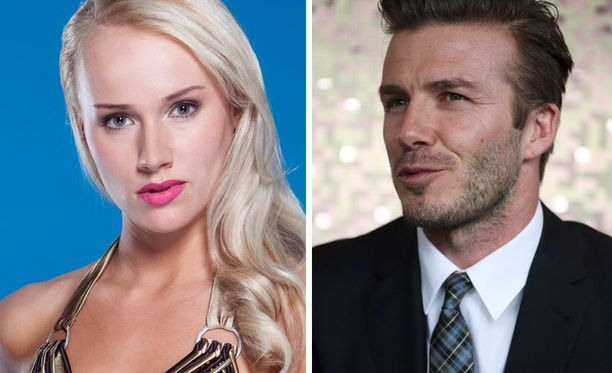 Elina Leskisen suosikki on jalkapallokentiltä tuttu hurmuri David Beckham.