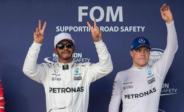 Lewis Hamiltonilla ja Valtteri Bottaksella on edelleen saumat kaksoisvoittoon MM-sarjassa.