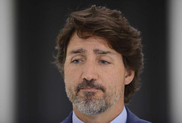 Kanadan pääministeri Justin Trudeau piti tiedotustilaisuuden 13. heinäkuuta Ottawassa.