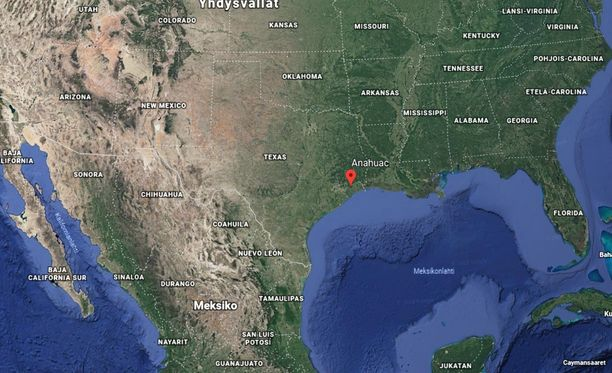 Rahtikone putosi mereen Houstonin edustalla Teksasissa.