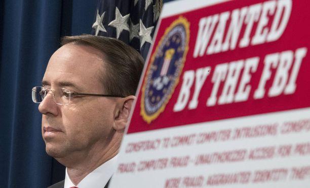 Apulaisoikeusministeri Rod Rosenstein kirjoitti muistion, jolla perusteltiin FBI-johtaja James Comeyn erottamista.