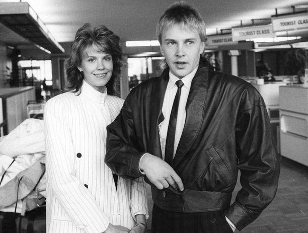 Matti Nykänen ja Tiina Nykänen vuonna 1988.