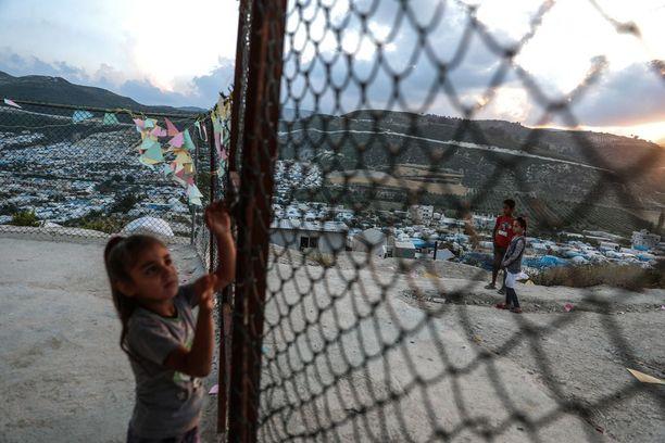 Pakolaisleiri Syyrian Latakiassa. Kuva toukokuun lopulta.