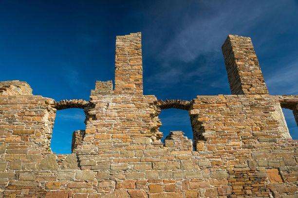 Orkneysaarilla sijaineen jaarlin palatsin rauniot.